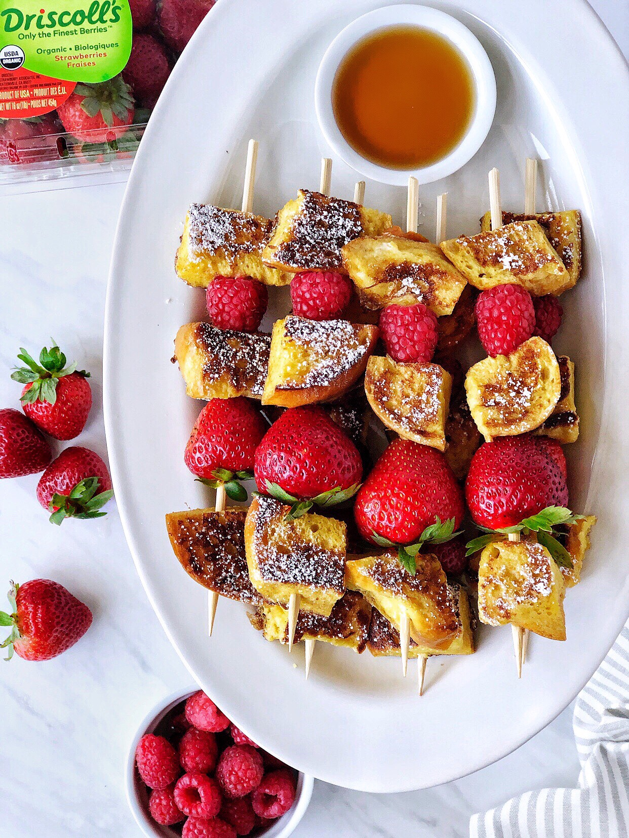 Mixed Berry French Toast Kebabs