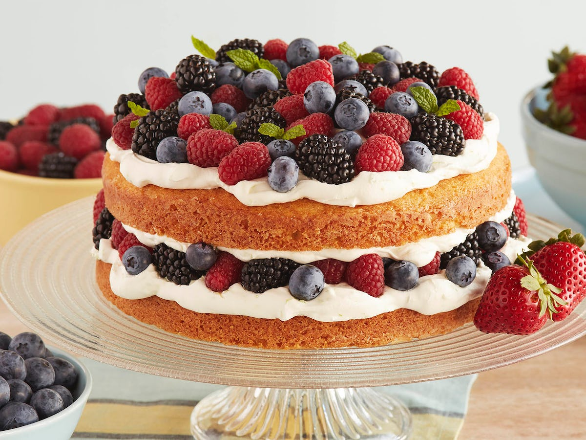 Berry Shortcake with Lime Whipped Cream