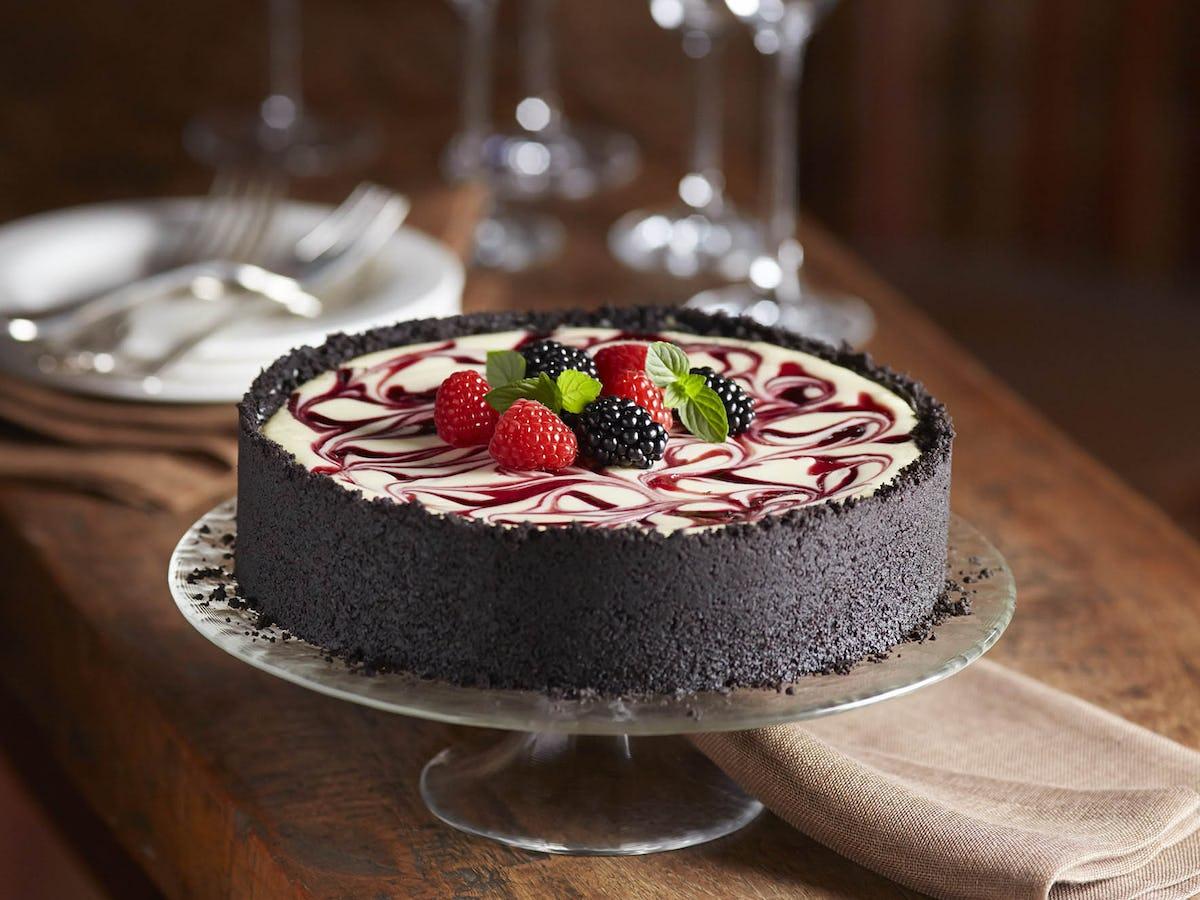 Blackberry And Raspberry Swirl Cheesecake Driscolls