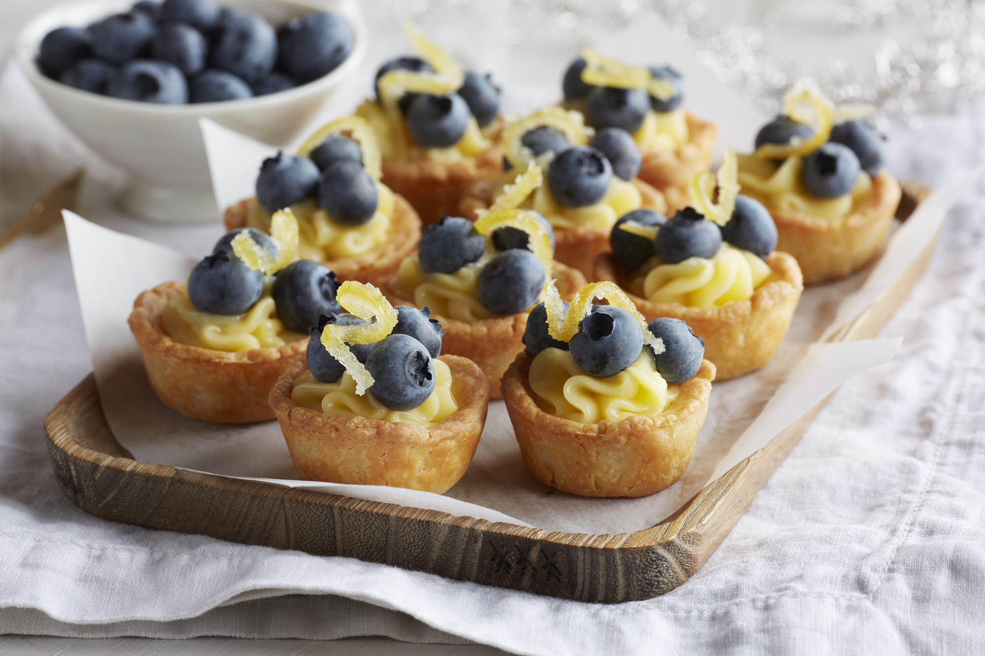 Blueberry And Lemon Curd Puff Pastry Cups