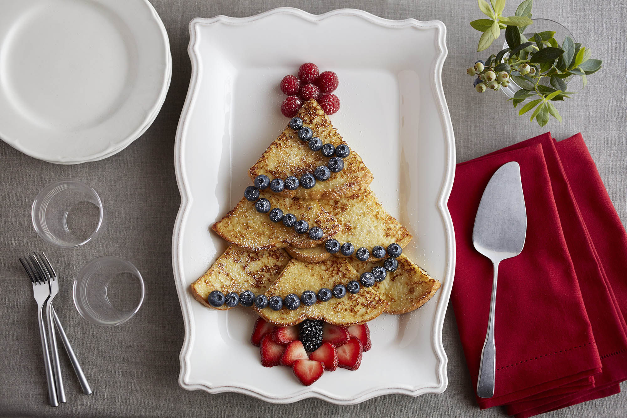 Christmas tree eggnog french toast eggnog french toast decorated in the shape of christmas trees forumfinder Choice Image