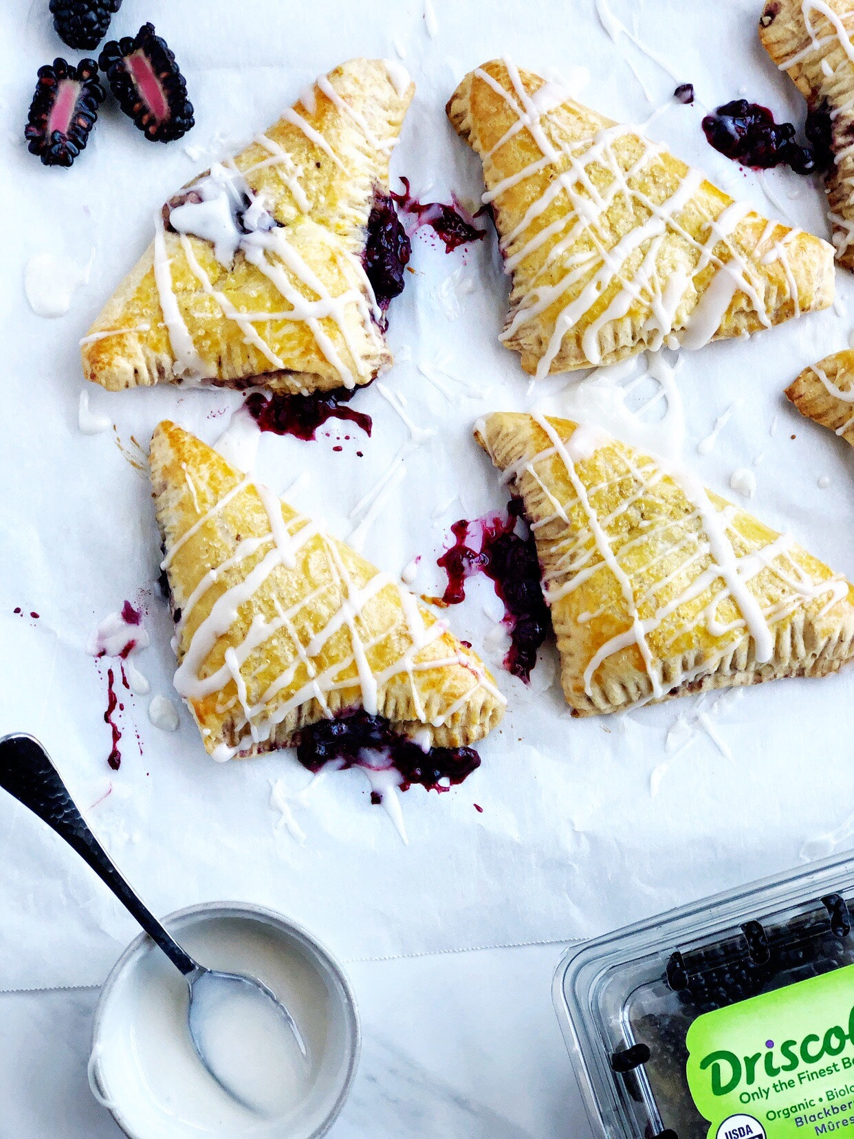 Easy blackberry turnovers