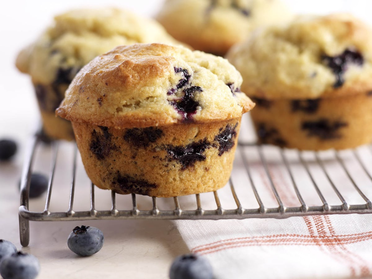 Image result for homemade blueberry muffins