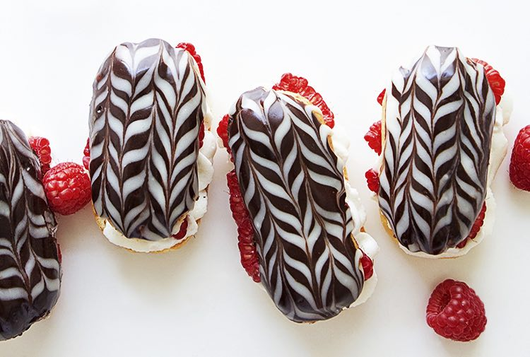 K'Mich Weddings - wedding planning - dessert ideas - raspberry eclair - chocolate raspberry eclair