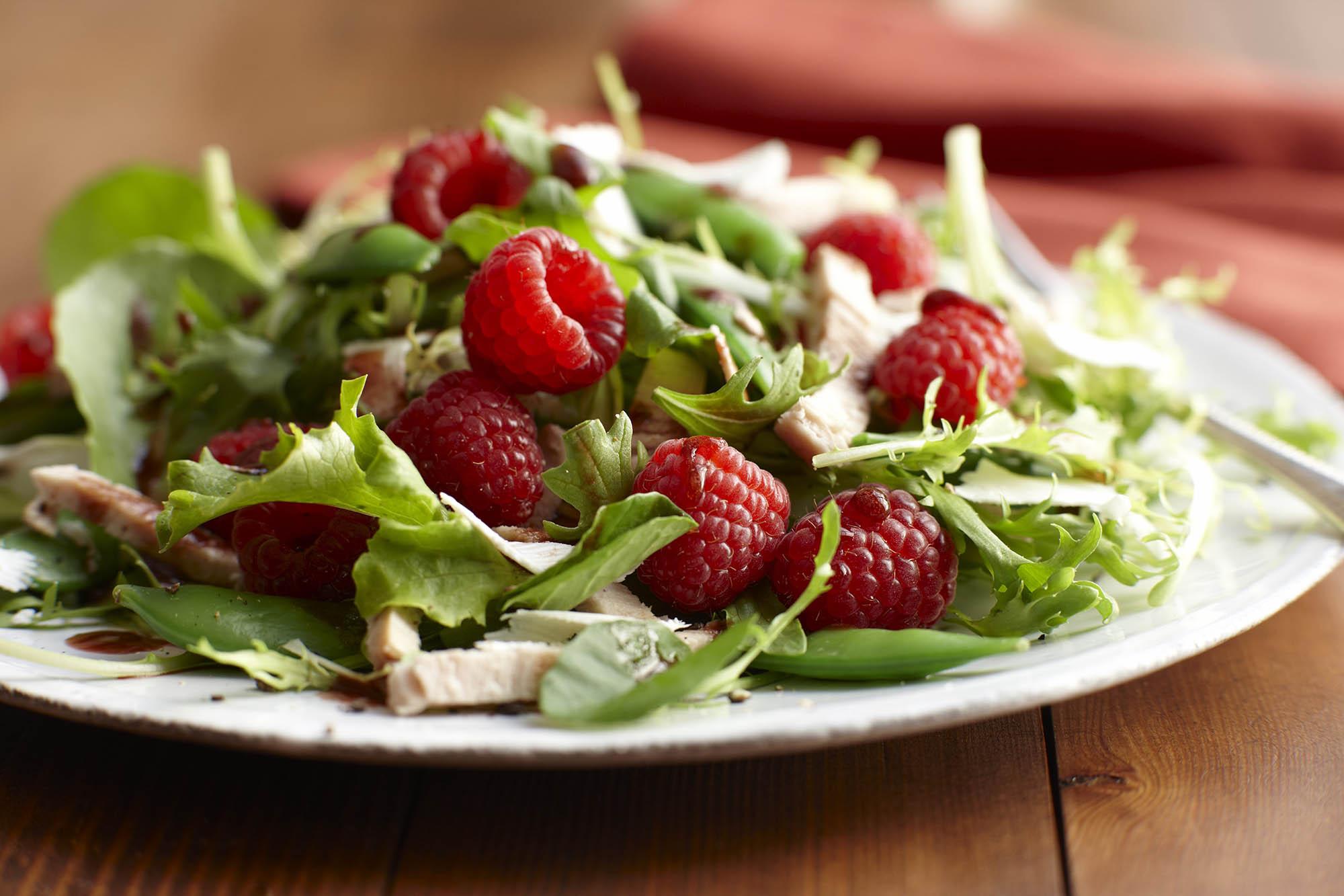 Menu For Olive Garden: Raspberry Turkey Salad With Raspberry Vinaigrette