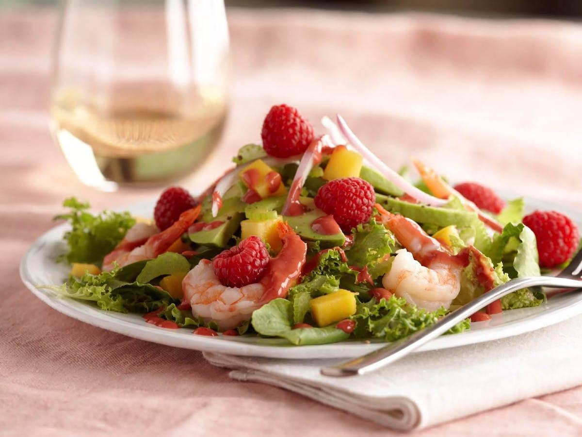 Shrimp and Avocado Salad with Raspberry Vinaigrette
