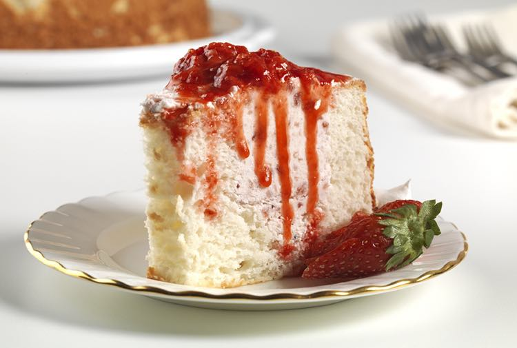Strawberry filled angel food cake a piece of strawberry filled angel food cake forumfinder Choice Image