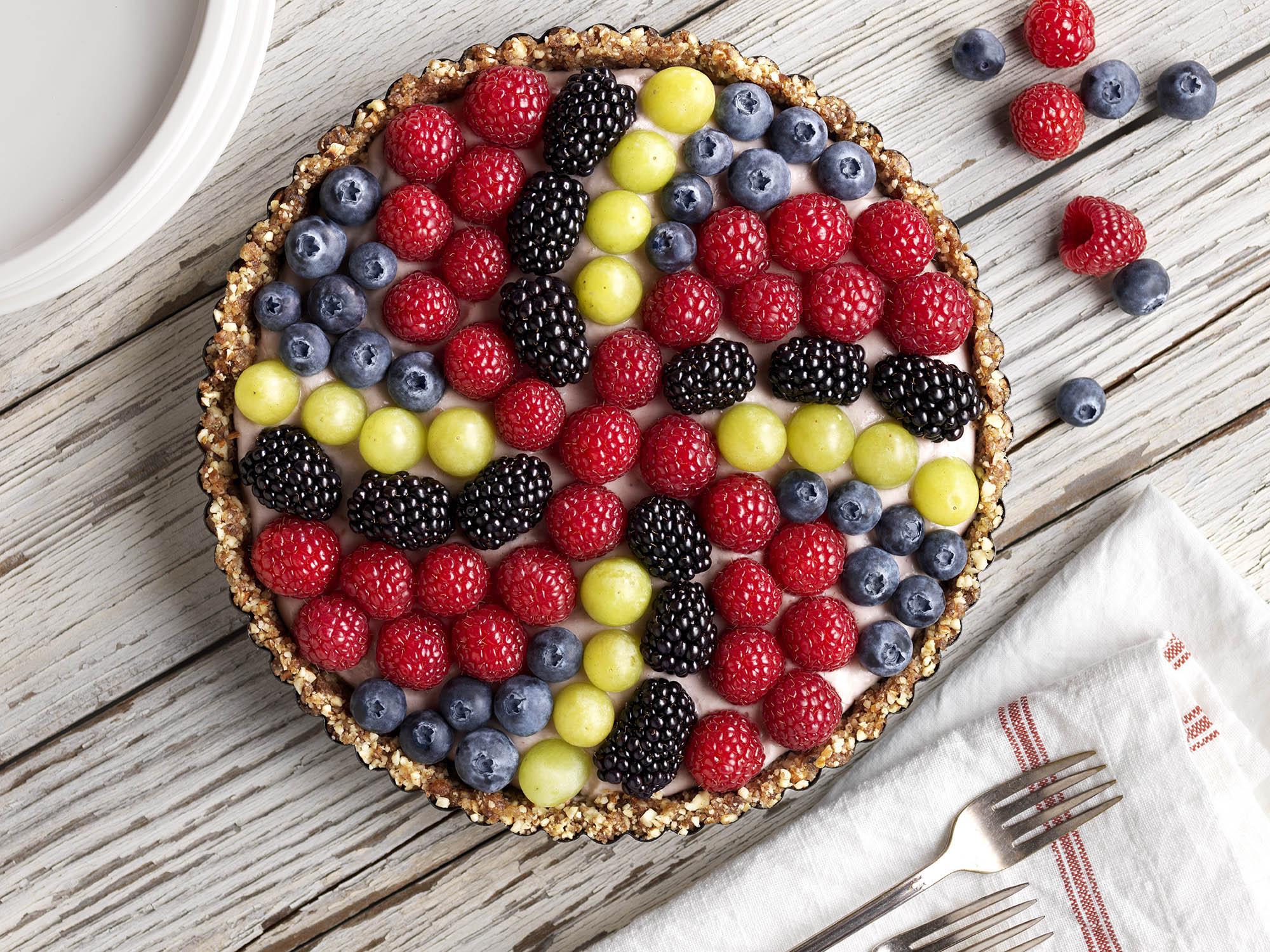 Vegan Pinwheel Berry Tart Recipe
