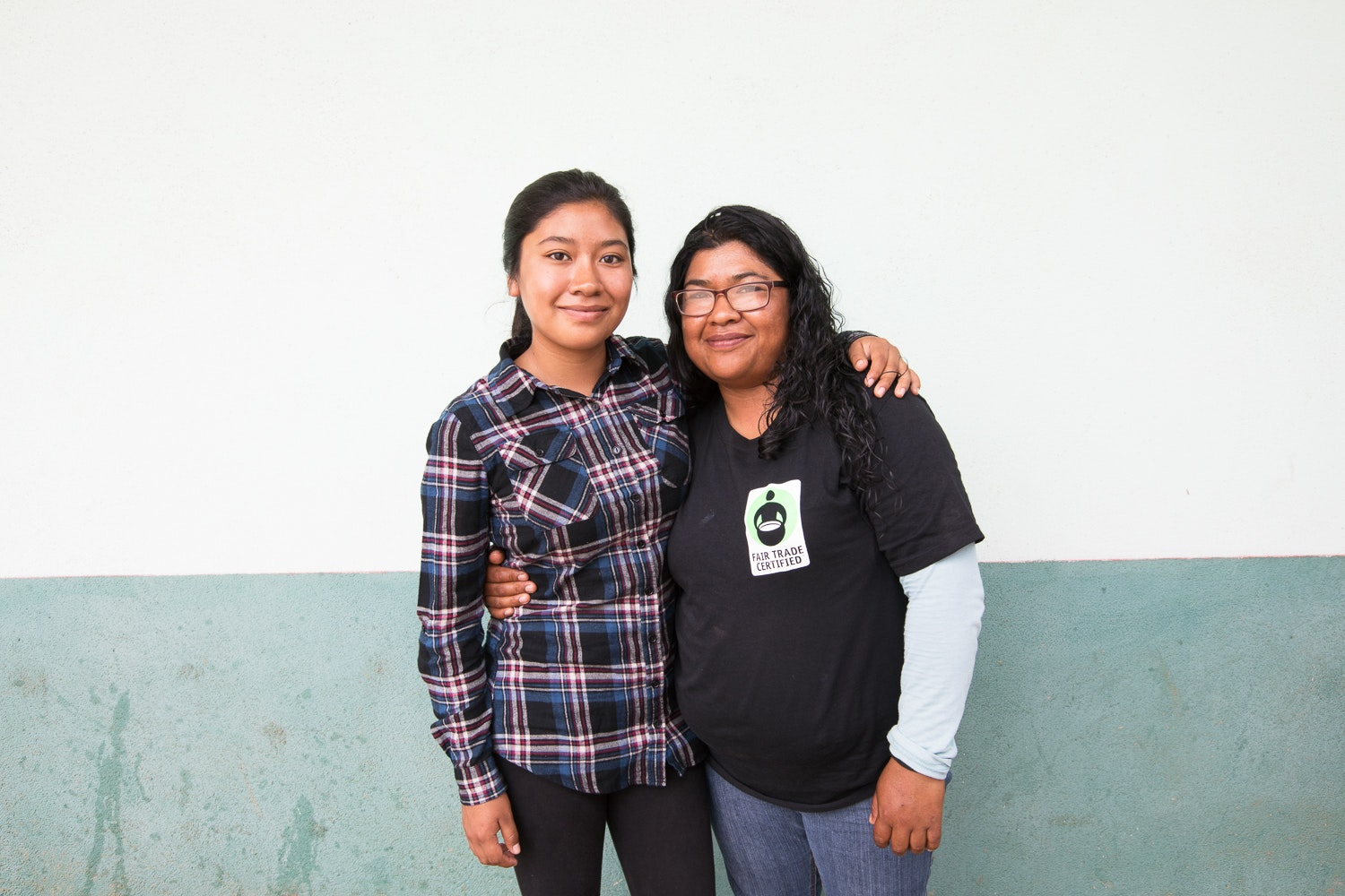 Saidel Hernandez and her daughter