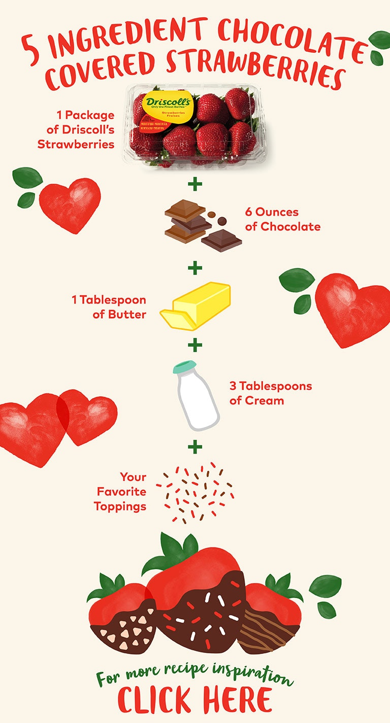 chocolate covered strawberry infograph