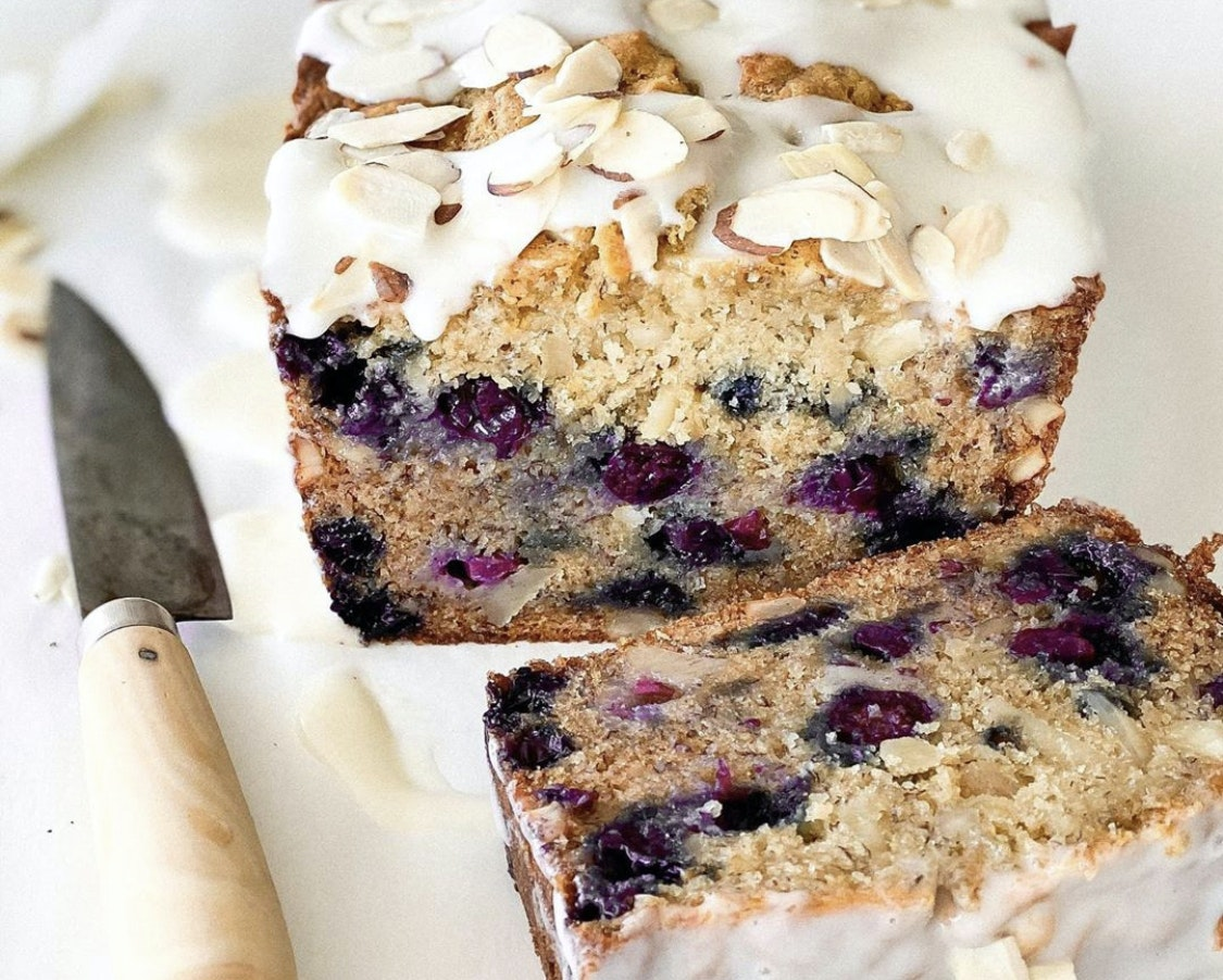 Bread with fresh Driscoll's berries in it