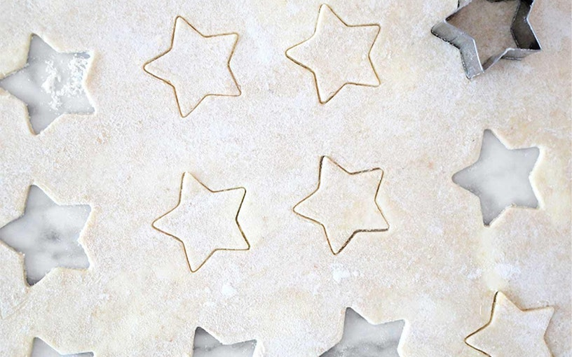 Crust with star cookie cutters