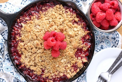 Grilled skillet raspberry crsip