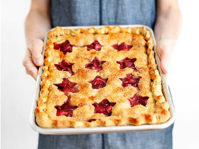 Strawberry Slab Pie with Driscoll's Strawberries