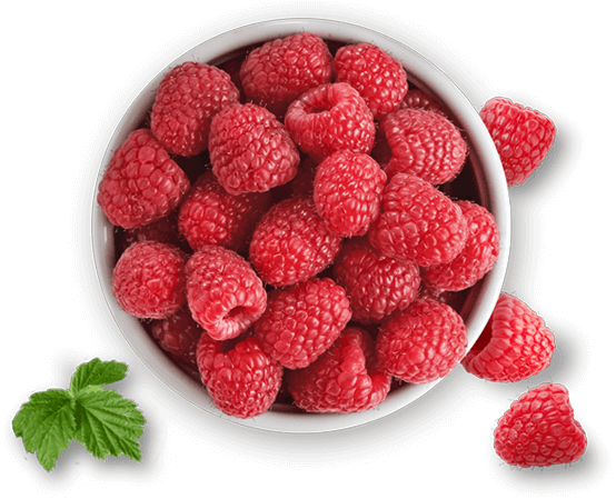 bowl of Driscoll's raspberries