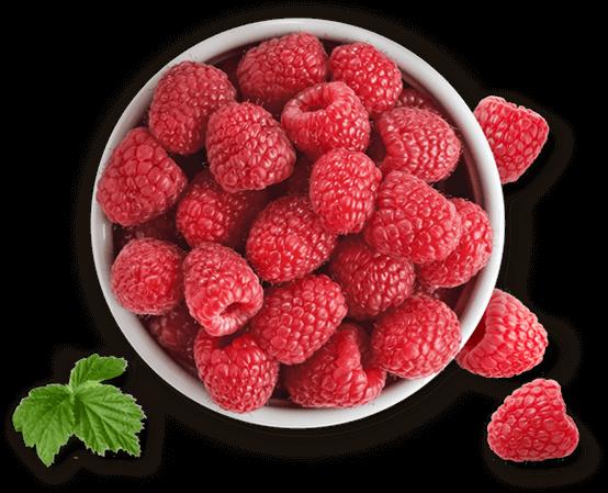 bowl of Driscoll's raspberries
