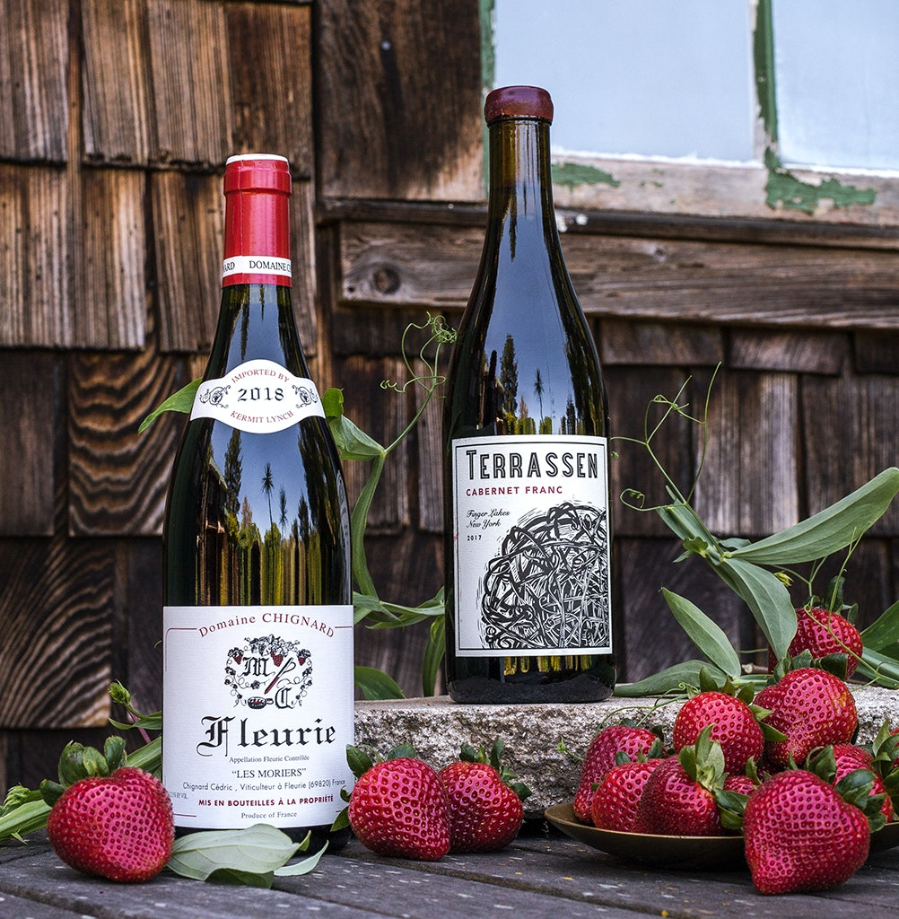 Driscoll's Sweetest Batch strawberries and wine